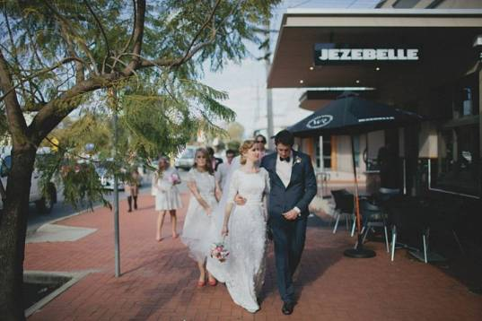Jo's Textural Lace Gown