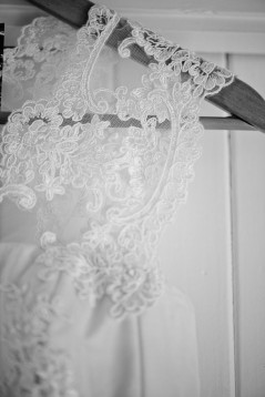 Johanna's Lace and Silk Organza Gown