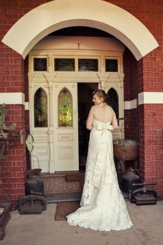 Kylee's Vintage Inspired Lace and Silk Gown