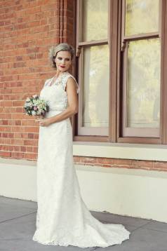 Esther Lace and Silk Dupion Gown