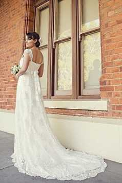 Matilda Beaded Lace and Silk Satin Gown