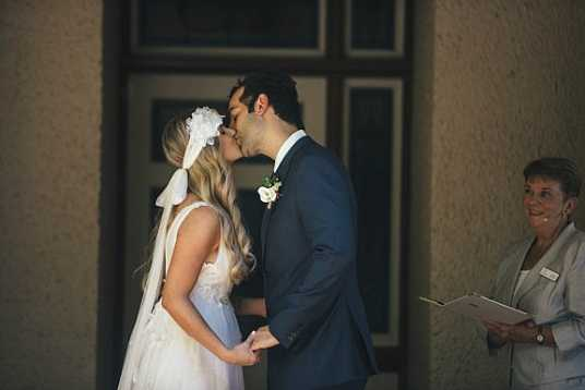 Hayley's Boho Wedding Gown & Tulle Headpiece