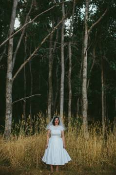 Jaymie's Tea-Length Wedding Dress