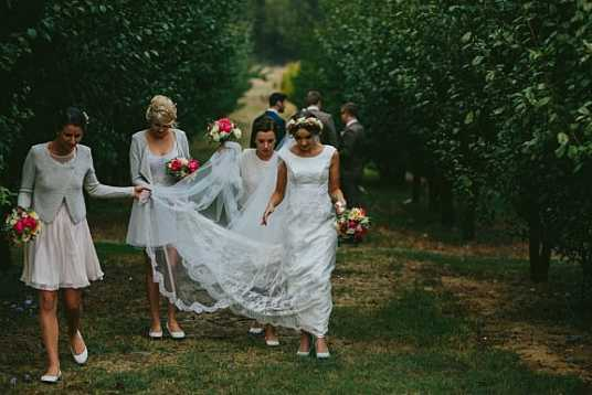 Hannah's Soft Lace Wedding Gown