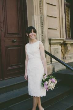 Sarah's Short Lace Wedding Dress