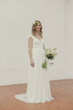 Soraya Silk Georgette and Beaded Lace Wedding Gown