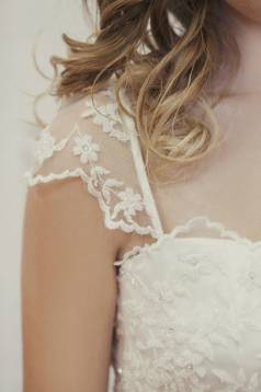 Kate Beaded Lace and Silk Wedding Gown