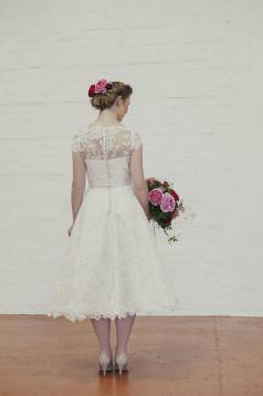 Evie Lace Tea Length Wedding Dress