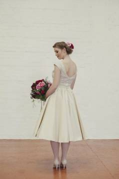 Millie Sequin and Silk Dupion Tea Length Wedding Dress