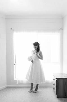 Lauren's Tea Length Lace Wedding Gown