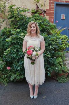 Liz's Exquisite Short Wedding Dress