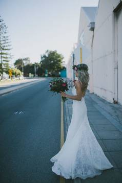 Sam's Bohemian Lace Wedding Gown