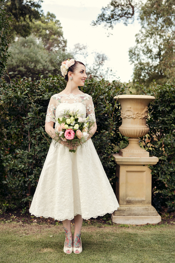 Elvi Design Tea-Length Wedding Gown