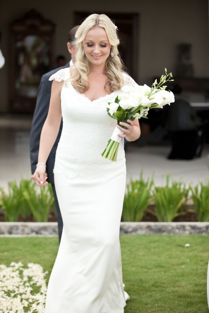 Carly's Lace and Silk Crepe de Chine Gown