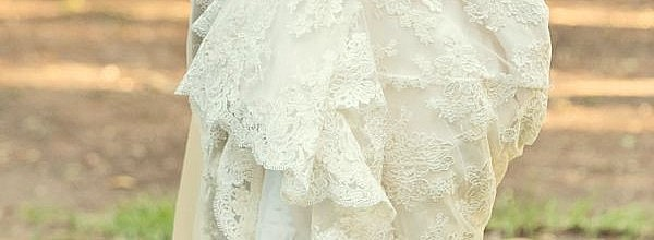 Kylee's Vintage Inspired Ivory Corded Lace Wedding Gown