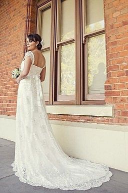 Matilda Beaded Lace and Silk Satin Gown.