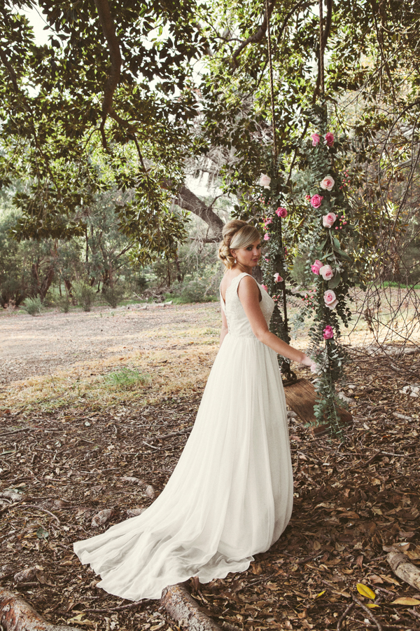 Juliet Silk Georgette and Lace Wedding Gown