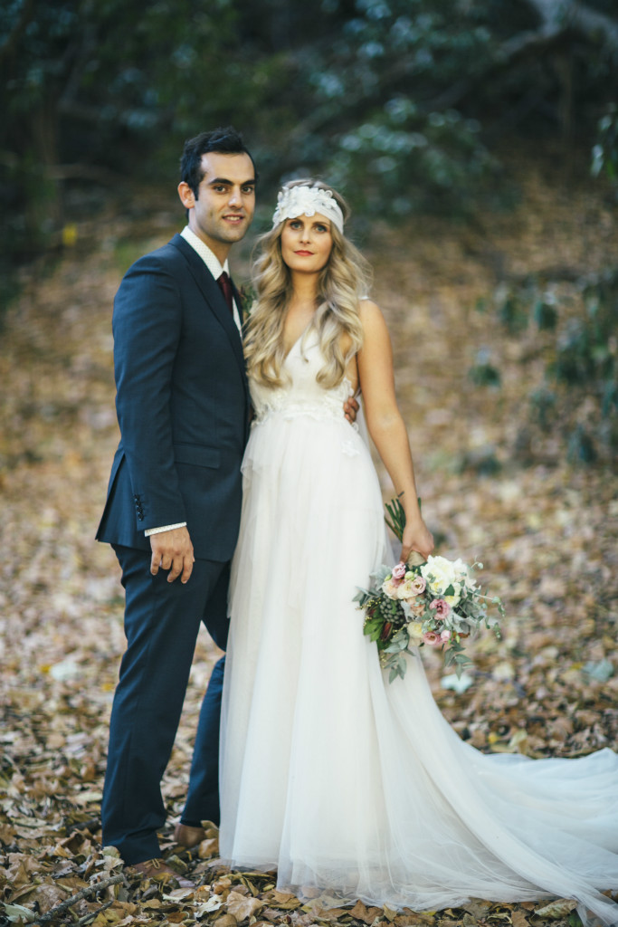 Hayley's Bohemian Tulle Wedding Gown