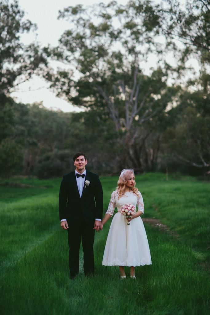 Emily's Tea Length Wedding Dress with Sleeves
