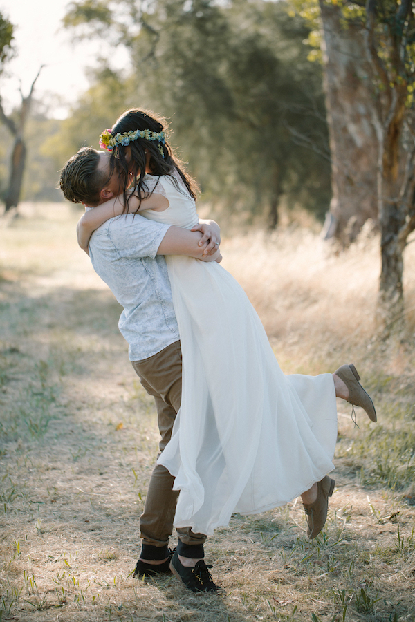 Esther's Relaxed Wrap Wedding Dress