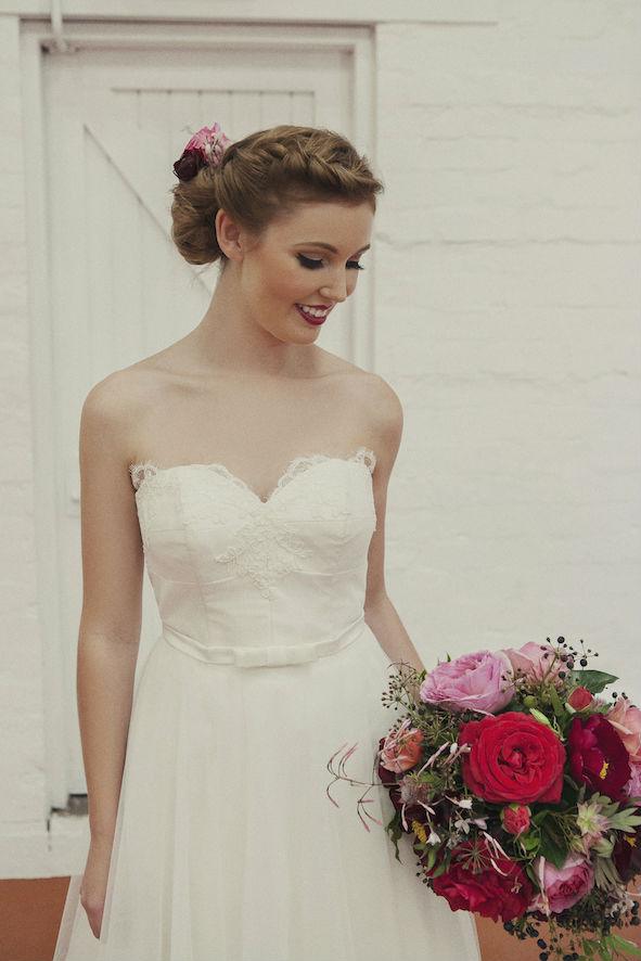 Madeline Lace and Tulle Wedding Gown
