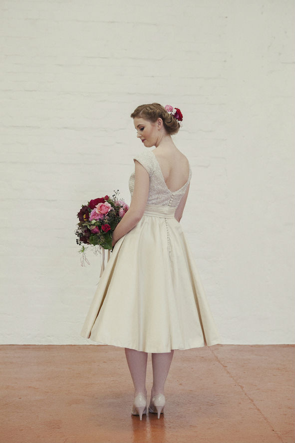 Millie Sequin Tea Length Wedding Dress