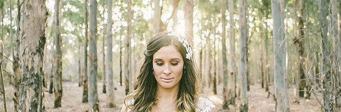Nerida's Lace & Silk Wedding Gown