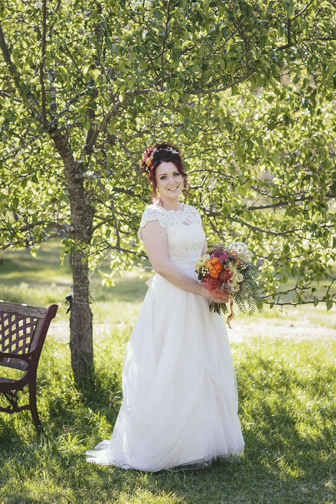 Zoe's Whimsical Lace and Tulle Wedding Dress