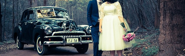 Emily's Lace and Tulle Tea Length Wedding Dress