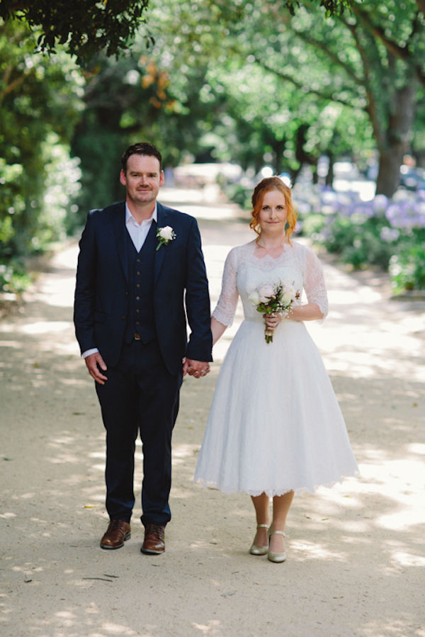 Lisa's Lace Tea Length Wedding Dress