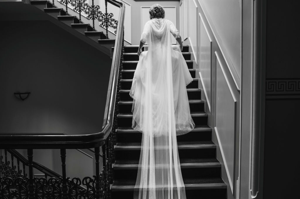 Candice's Epic Tulle Wedding Gown with Detachable Cape
