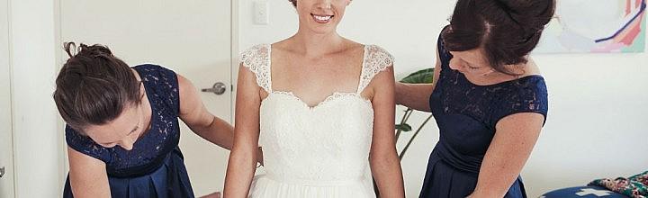 Laura's Lace and Silk Wedding Dress