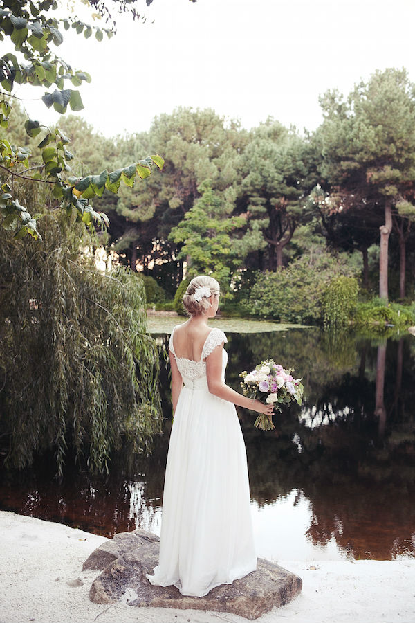 Laura's Custom Lace and Silk Wedding Dress