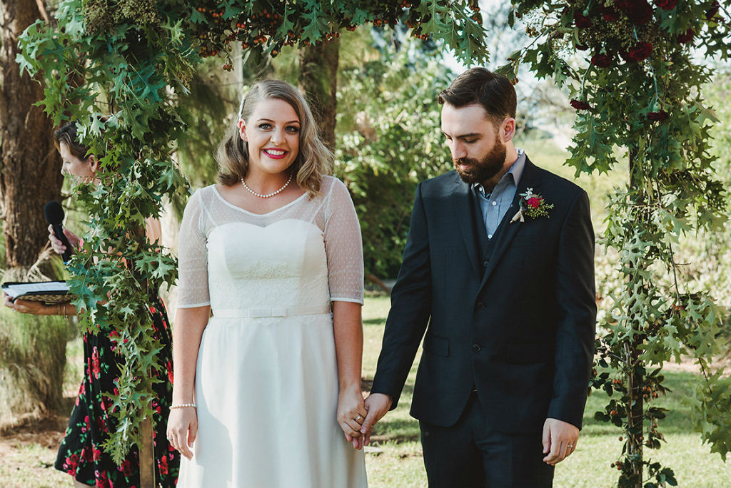 Tara's Vintage Tea Length Wedding Dress