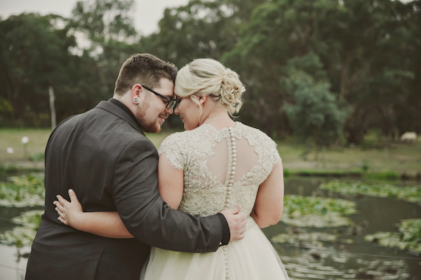 Ashleigh's French Beaded Lace Wedding Gown
