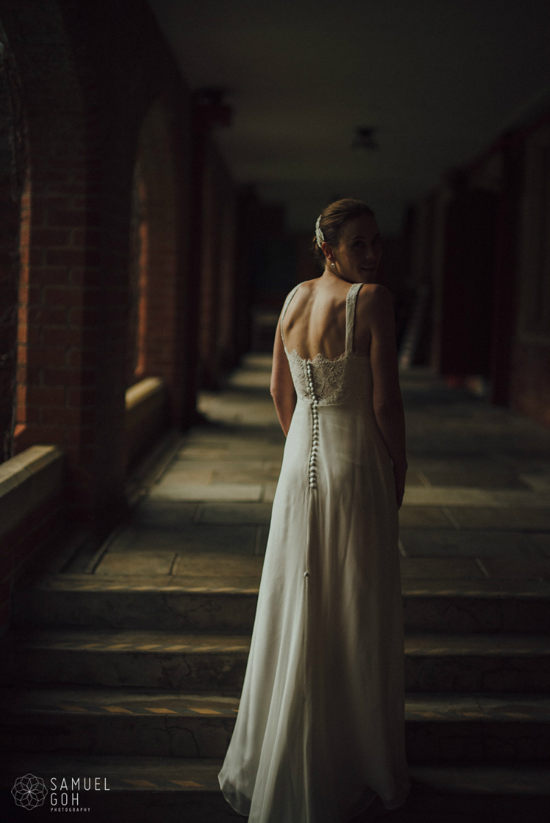 custom made silk wedding dress