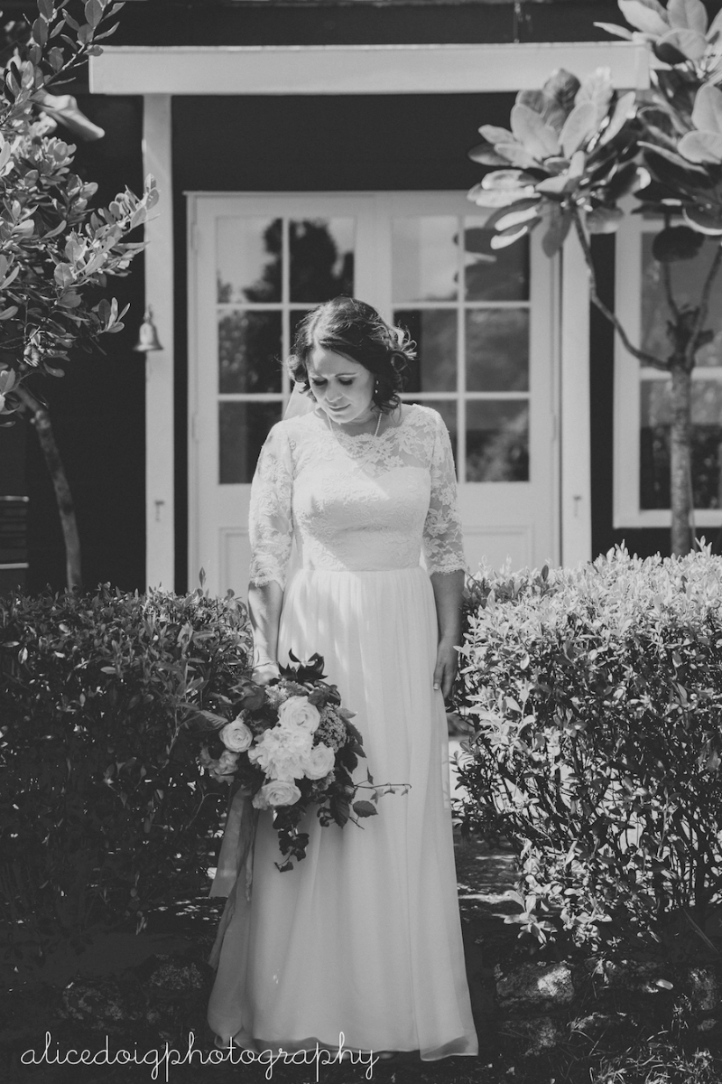Jess's Wedding Dress with Lace Sleeves