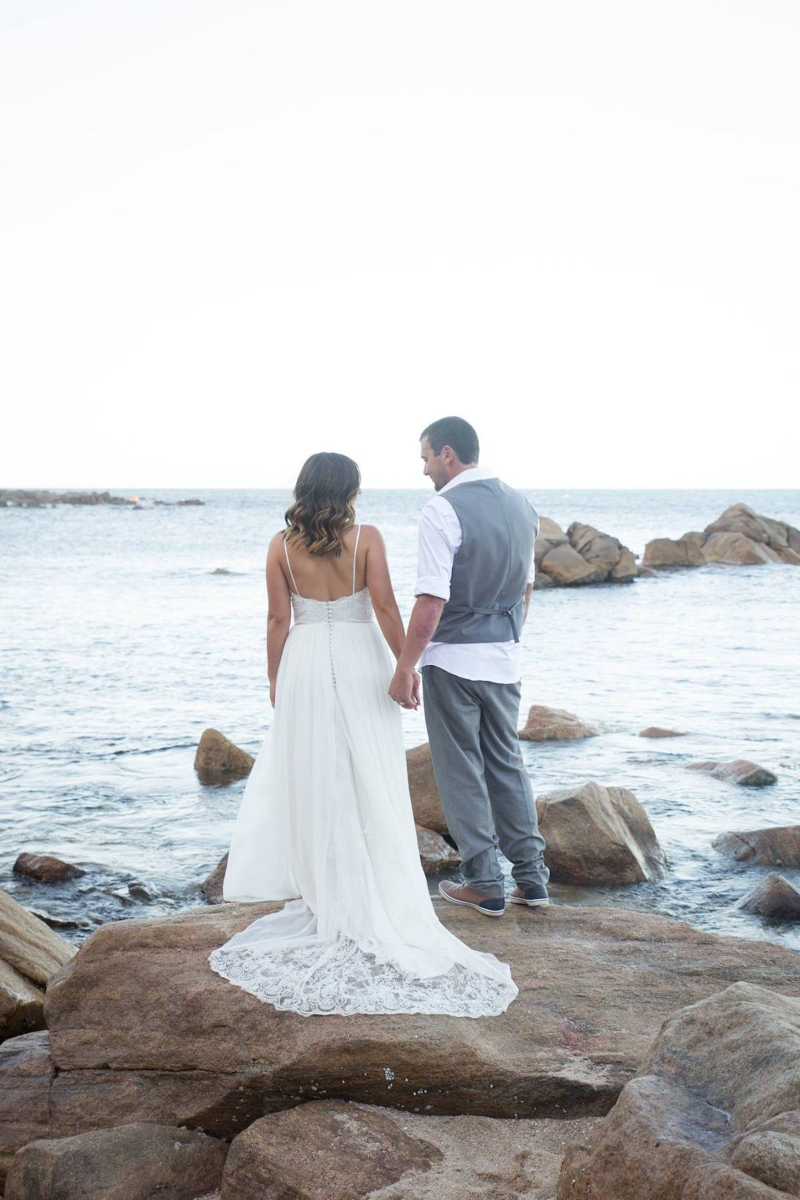 Beth's Beaded Lace Wedding Gown