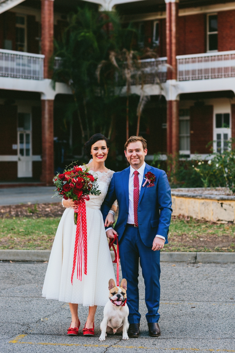 Ashleigh's Polka Dot Wedding Dress