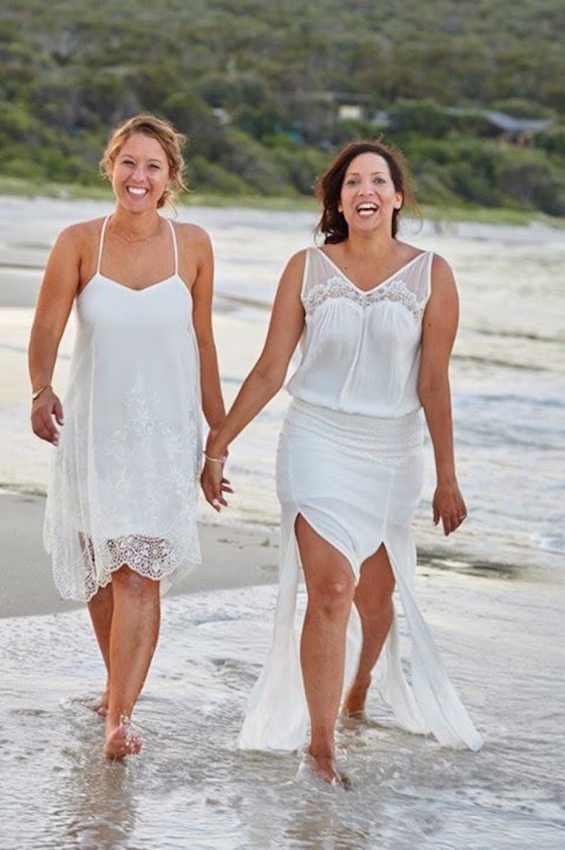 Georgia's Short Beach Wedding Dress