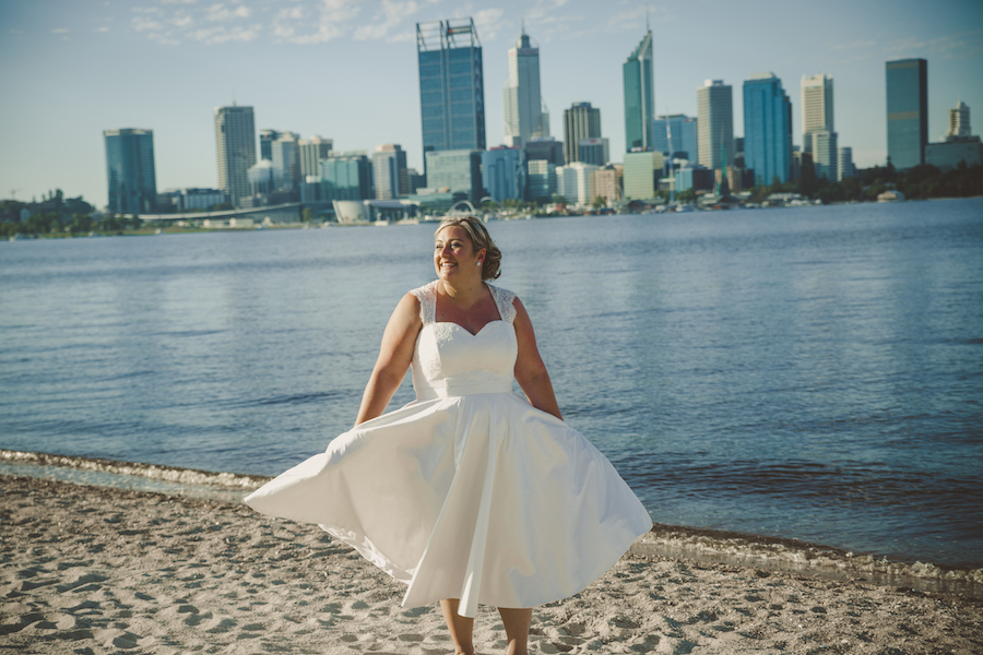 Elvi Design Tea Length Wedding Dress Perth369