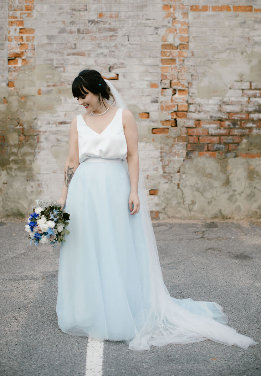 Elvi Design Blue Wedding Dress-443