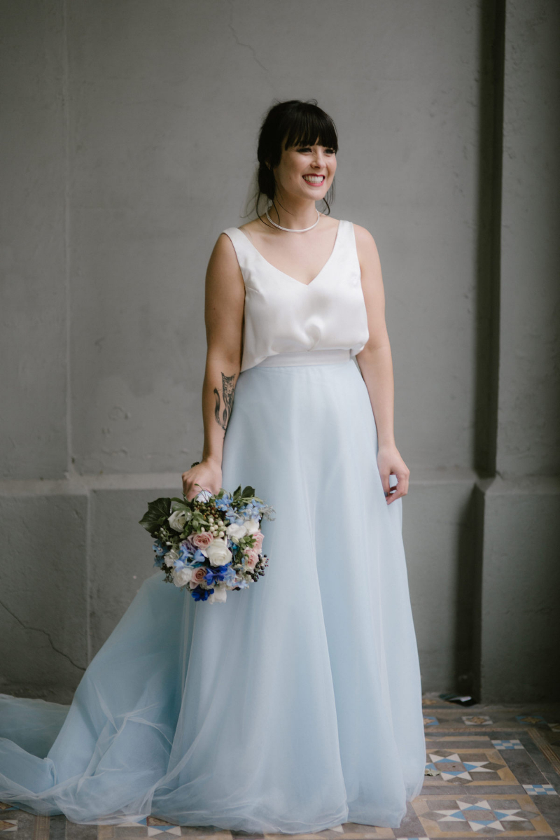 Elvi Design Blue Wedding Dress-526