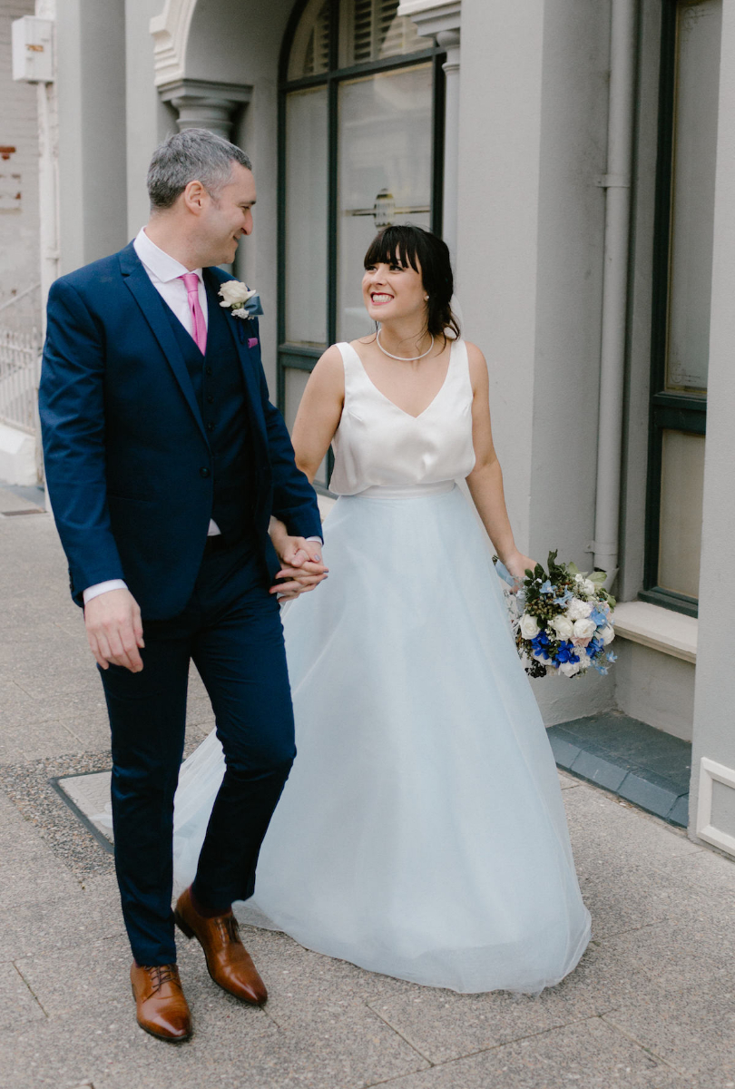 Lorraine's Blue Wedding Dress