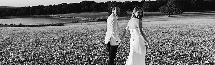 Sarah's Minimal Silk Wedding Dress Perth