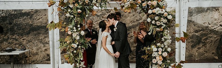Steph's Lace and Silk Wedding Dress with Detachable Train