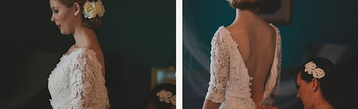 Jo's Ivory Lace Wedding Gown