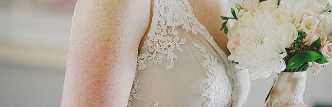 Fiona's Oyster Silk Dupion and Ivory Lace Wedding Gown