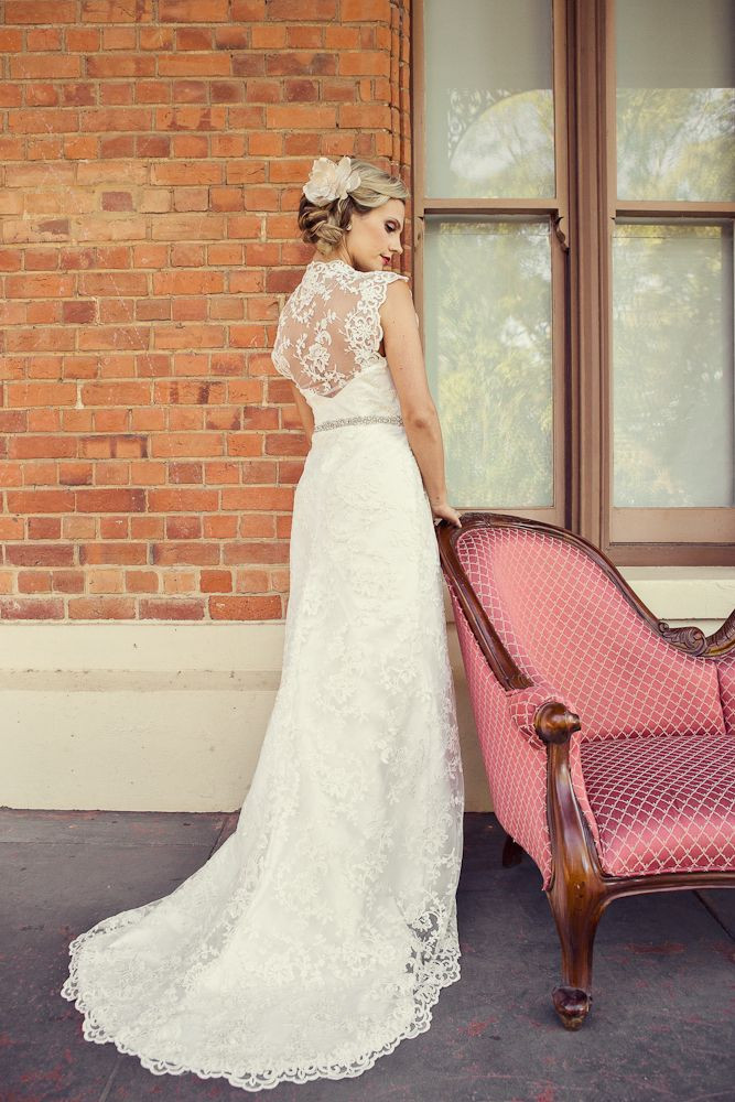 Esther Lace and Silk Dupion Gown.
