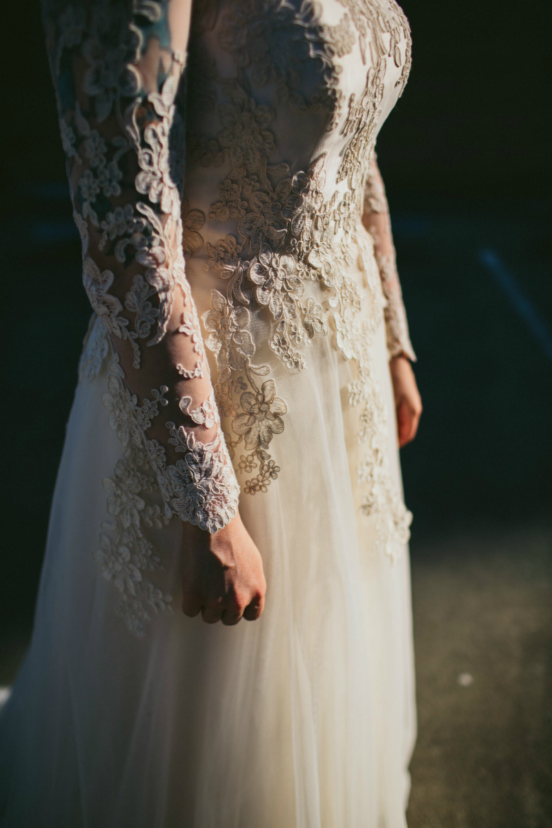 long sleeve wedding dress perth